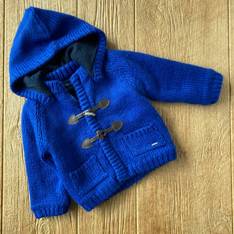 MYL 2344 28 Blue Sweater with Removable Hood
