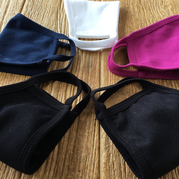 100% Organic Cotton Masks Navy