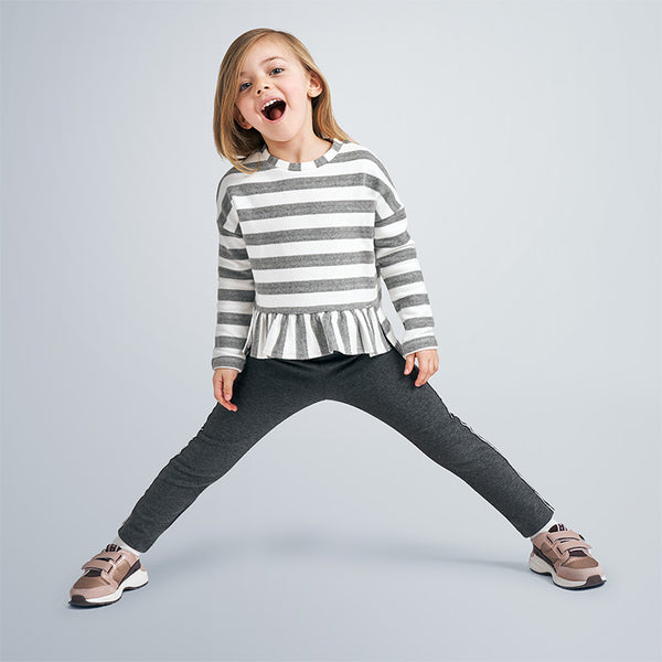 MYL 4403 87 Grey Striped Sweater