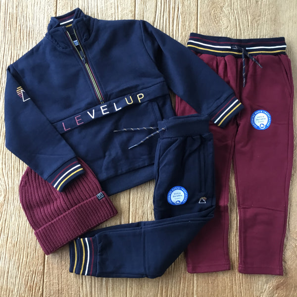 MYL 4820 Deep Blue Half Zip Sweat Set