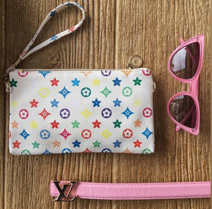 LO Cream Colorful Wristlet with Crossbody Strap