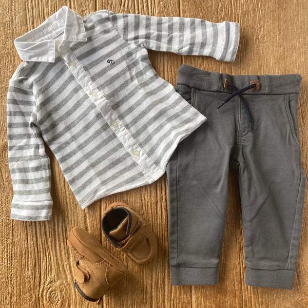 MYL 2579 79 Pull On Grey Joggers