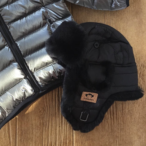 AM W6HA9 Black Baron Trapper Hat