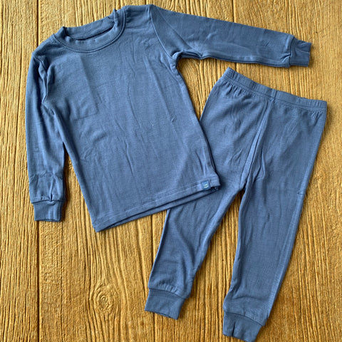 VB Modal Long Pajama Set Blue
