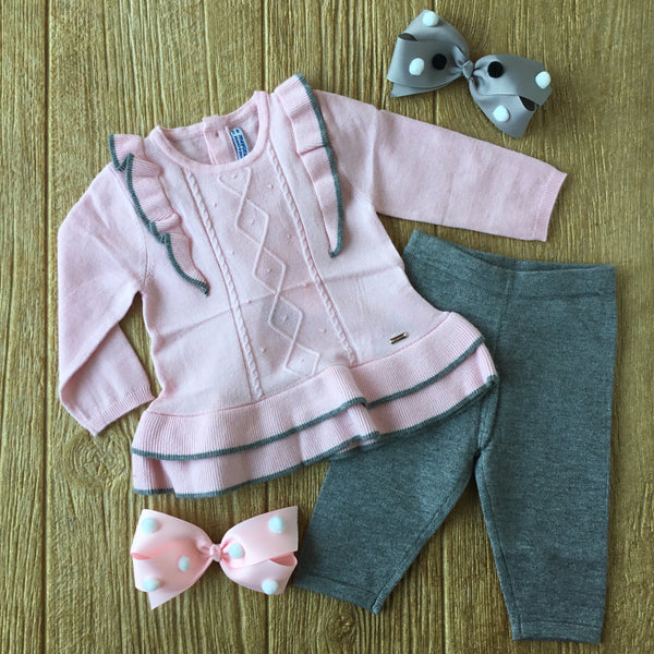 MYL 2785 37 Rosa Pink Knit Sweater Set