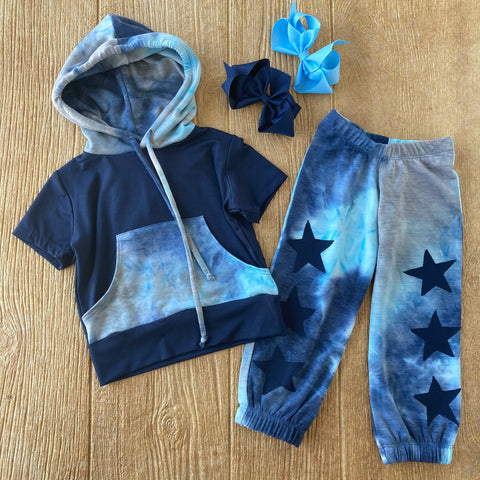 LTP Blue Tye Dye Star Pants