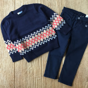MYL 4326 94 Navy Diamond Sweater