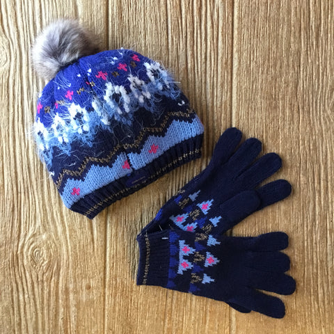 Cat 90005 44 Blue Winter Hat