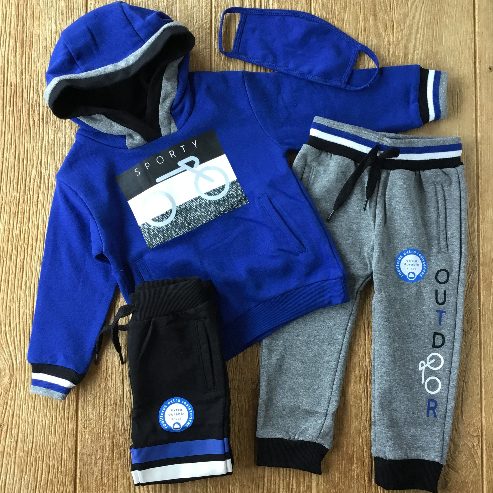 MYL 4817 Blue Pop 3Pc Sweat Set