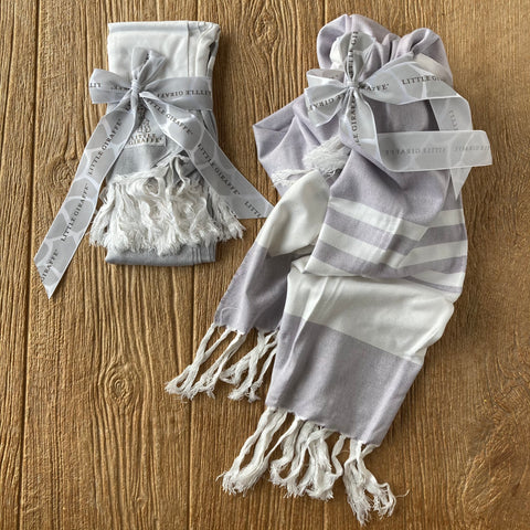 Little Giraffe Turkish Towel Charcoal