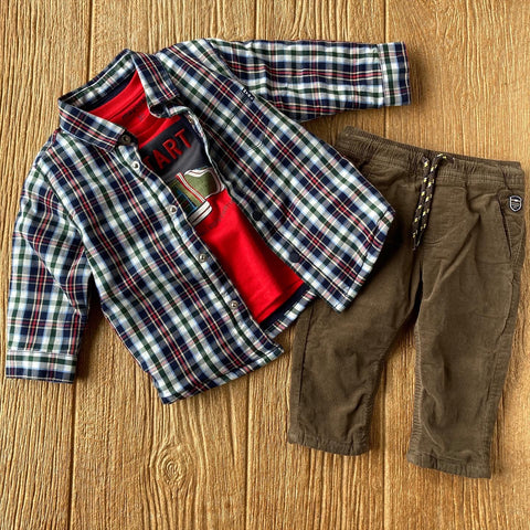 MYL 2576 20 Brown Pull On Corduroy Pants
