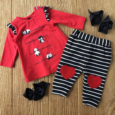 DPD C20j11 Panda 2pc Tunic and Leggings Set