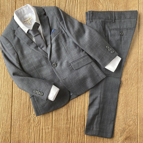 AM W8SU2 GBC Suit Grey/Blue Yonder Check