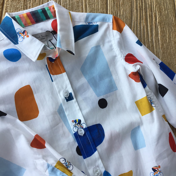 5N 12602 Tom White Shirt with Bikers