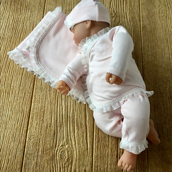 SIP Pink and White Ribbon 2Pc Set