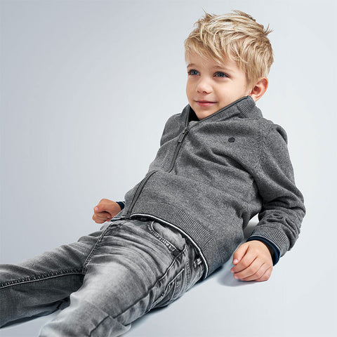 MYL 4539 82 Grey Stretch Denim