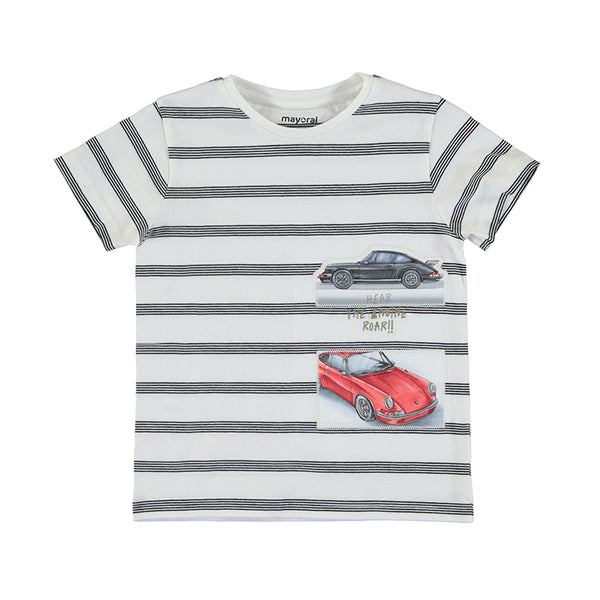 MYL 3029 74 Stripes Tee with Cars