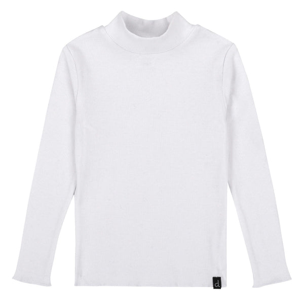 DPD C20YG71 White Rib Turtle Neck