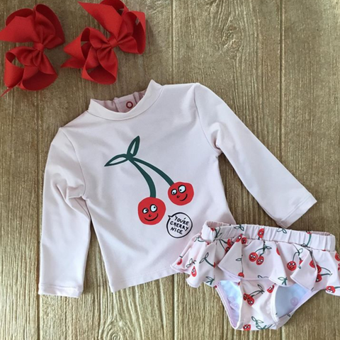 SMK 16 5769 Cherries 2pc Swim Suit