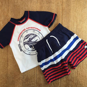 FLAP 05680M Navy Swimsuit 2Pc