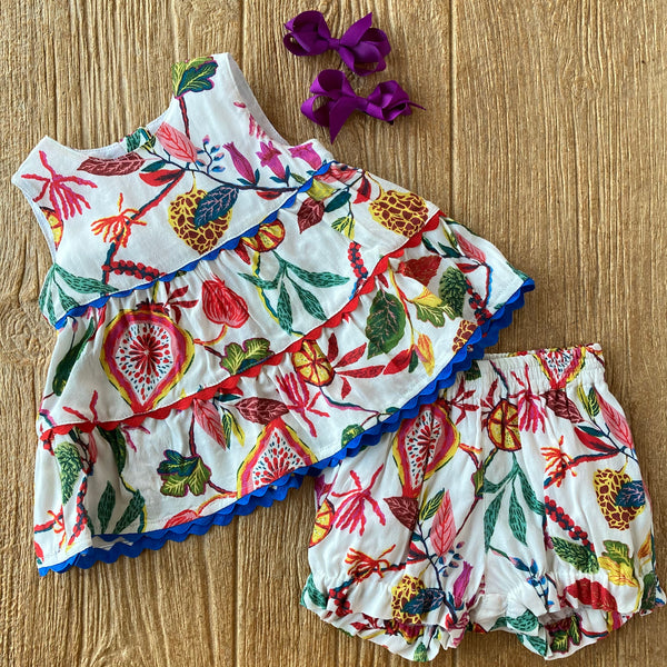 PCC Eliana Floral Top & Bloomers 2pc set
