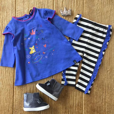 DPD C20G10 Amparo Blue Tunic and Leggings Set