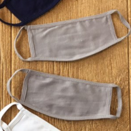 100% Organic Cotton Masks Grey