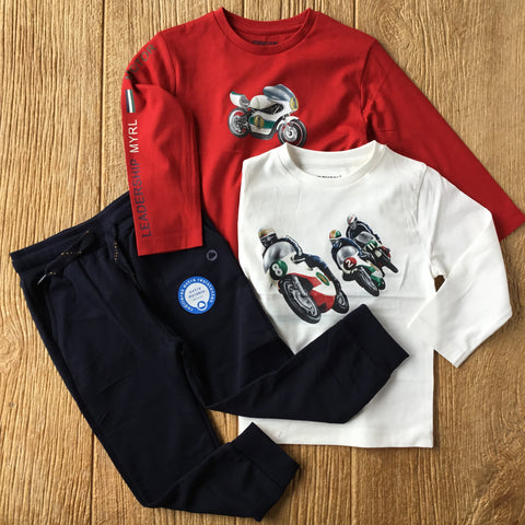 MYL 4047 Race Car Long Sleeve Tee 2pc Set