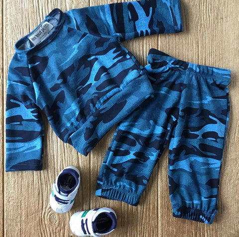 LTP Blue Camo 2Pc Set