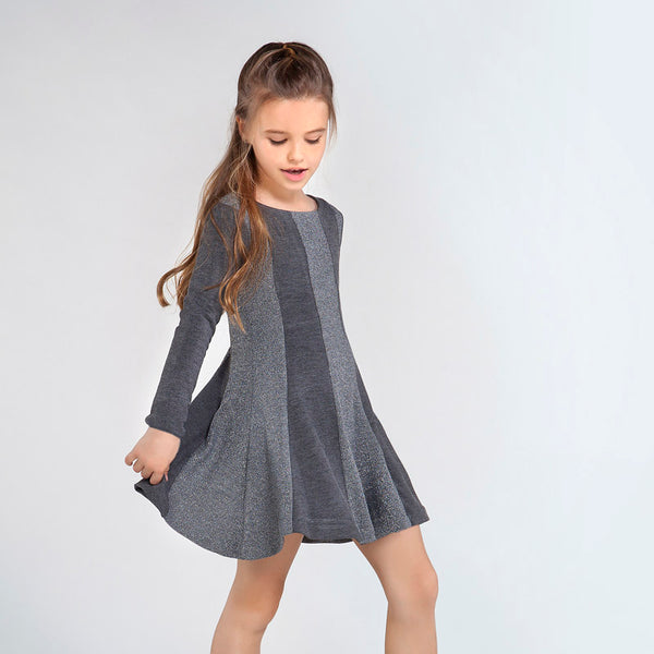 MYL 7957 80 Grey Silver Dress
