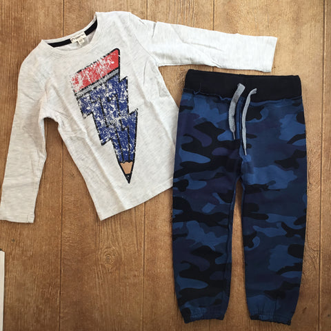 AM W2GS DNC Blue Camo Sweat Pants