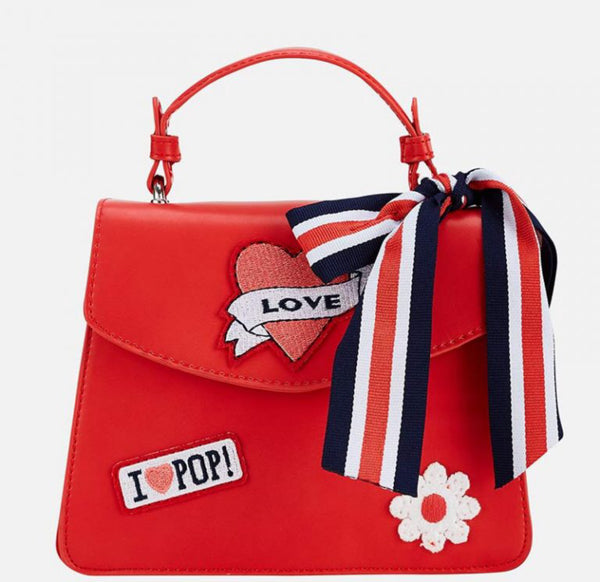 MYL 10602 Red Bag with Patches