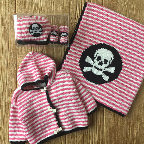 AW 365 Skull On Stripes Sweater