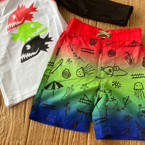 AM  X3ST2 PRY Print Swim Trunk