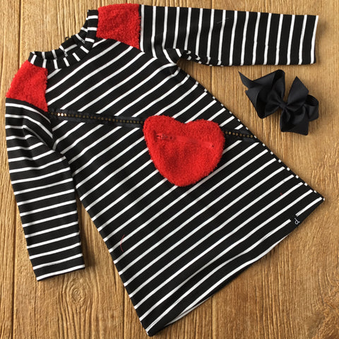 DPD C20j91 Striped French Terry Dress