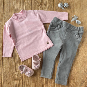 MYL 316 41 Pink Basic Knit Sweater