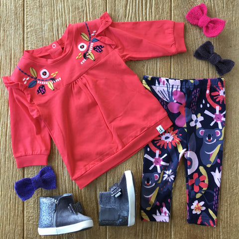 DPD C20F10 Hibiscus Tunic and Leggings Set