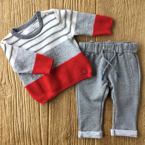 MYL 2306/2518 Grey Knit 2Pc Set