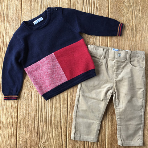 MYL 2587 63 Sweater and Khakis Set