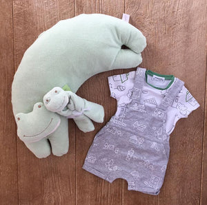 1665 48 Grey Overall Onsie with Tee