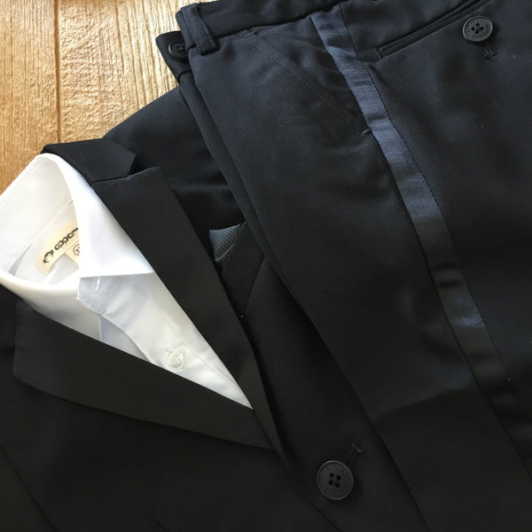 AM W8TUX Black 2pc Tuxedo Suit