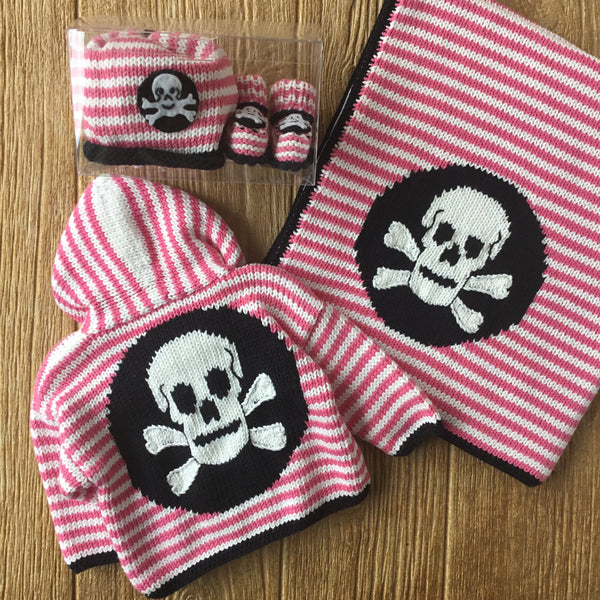 AW 365 Skull On Stripes Blanket