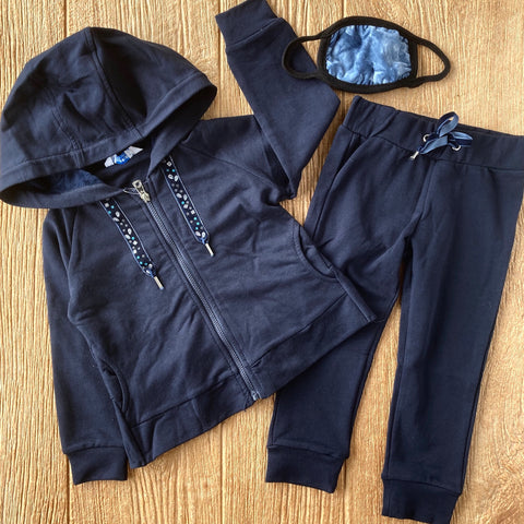 MYL 4823 66 Navy 2pc Sweat Outfit