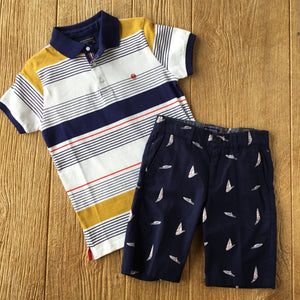 MYL 6137 031 Multi-Color Striped Polo