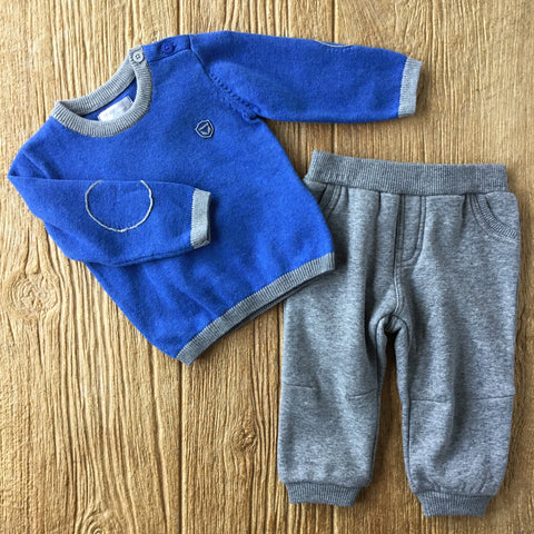 MYL 2307 51 Royal Blue Knit 2Pc Set