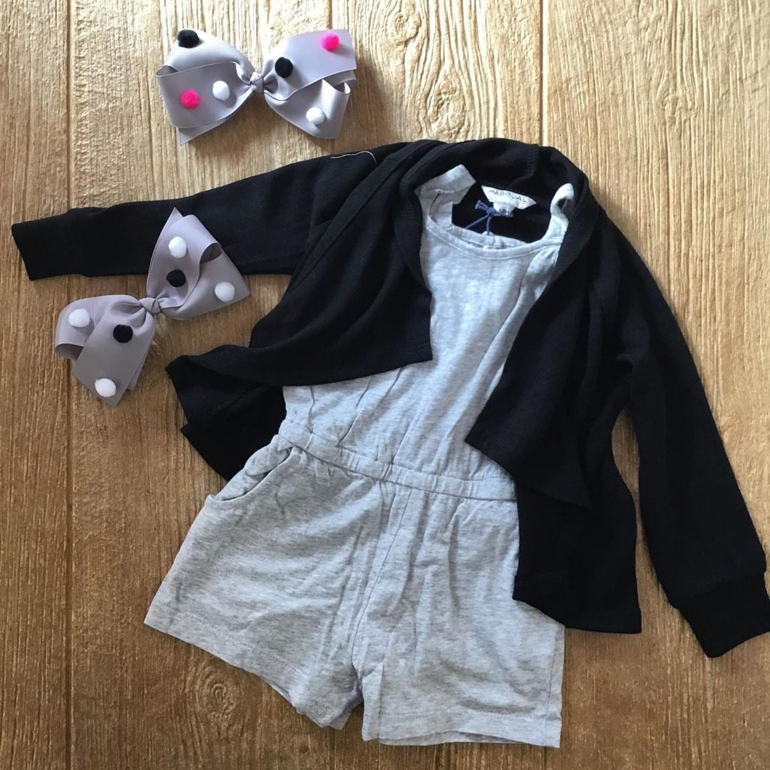 HBTL 02026I 031 Gray Short Romper