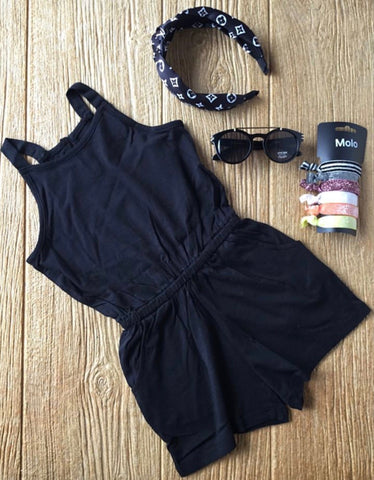 HBTL 01187X 001 Black Short Romper