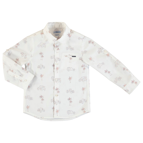 MYL 3175 9 Safari Printed Button Down