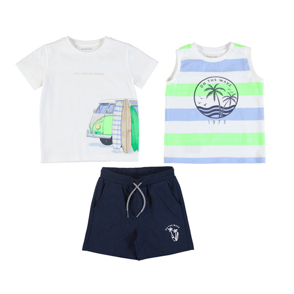 MYL 3622 74 Tee, Tank, and Short 3pc Set