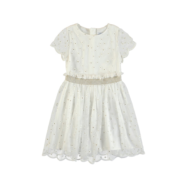 MYL 6972 White Lace Daisy Dress
